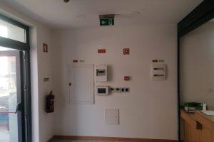 instalação elétrica dos bombeiros voluntários de belas e quadro eléctico